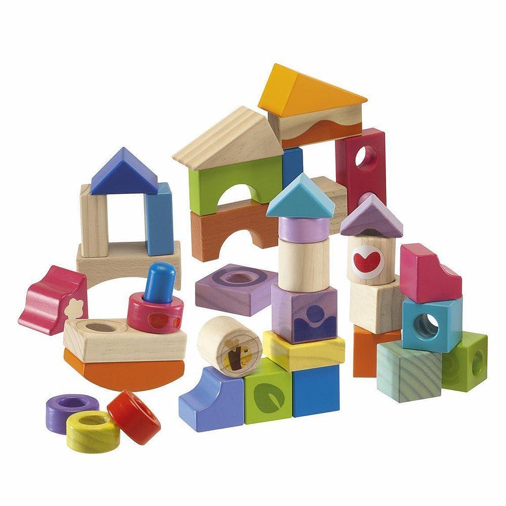 costruzioni di legno per bambini chicco 40 pezzi