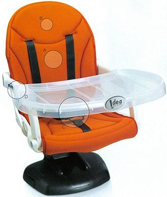 Alzasedia per bambino Idea Cam   Rialzo per sedia universale